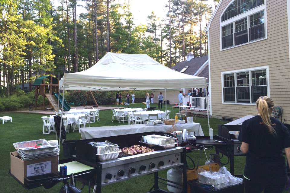 catering in backyard